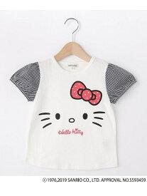 【SALE/20%OFF】SHOO・LA・RUE/Kids 【ハローキティ】袖布帛Tシャツ シューラルー カットソー【RBA_S】【RBA_E】