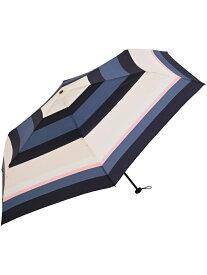nifty colors マルチボーダーカーボン軽量ミニ55 ニフティカラーズ ファッショングッズ 日傘/折りたたみ傘 ネイビー ブラウン