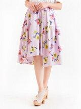 花柄ヘムスカート