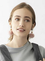FUR EARRINGS