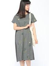 ガーデンフラワー総刺繍ワンピース