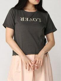 rienda LOVERロゴT/SH リエンダ カットソー Tシャツ グレー ピンク ホワイト【送料無料】