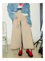DENIM TRENCH PANTS