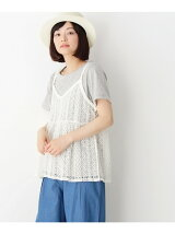 【SET商品/2WAY】2WAYレースキャミソール&Tシャツ