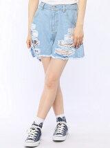 【JUNIOR SWEET】(L)ヘビークラッシュショートパンツ