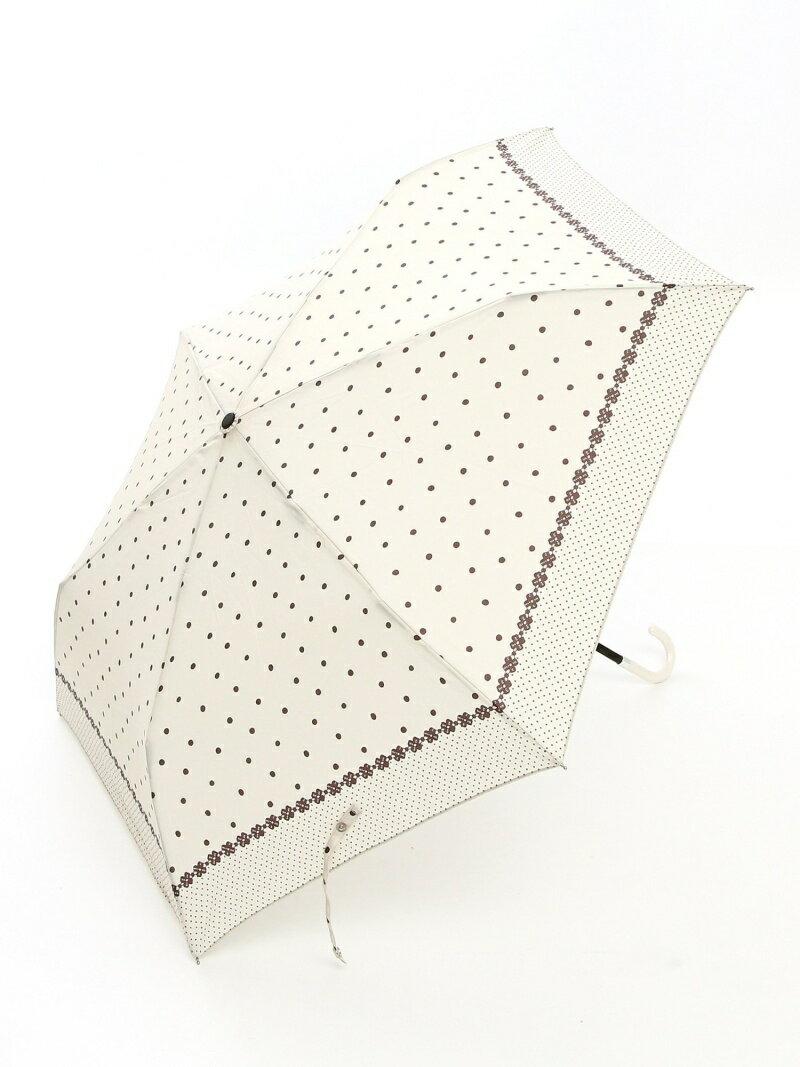 Afternoon Tea ドットフラワー柄折りたたみ傘 アフタヌーンティー・リビング ファッショングッズ
