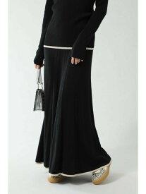 ROSE BUD ナローニットスカート ローズバッド スカート スカートその他 ブラック ベージュ【送料無料】