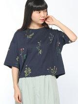 ガーデンフラワー総刺繍Tシャツ