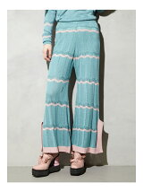 EYELET BORDER KNIT PANTS