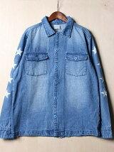 (M)NAVAL Select/デニムミリタリーシャツ