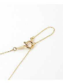 Nude-K10YG ダイヤモンドイニシャル ネックレス【R】