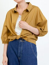 【WEB限定価格】前絞り衿付きシャツ