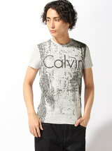 CALVIN KLEIN JEANS/(M)総柄プリント ラバーロゴT
