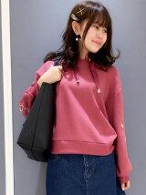 袖刺繍パーカー
