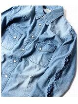 (M)NAVAL Select/デニムウエスタンシャツ