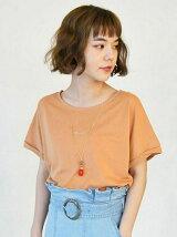 ビーズネックレス刺繍Tシャツ