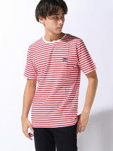 (M)トラコンワンポイントボーダーTシャツ
