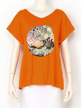 tiger wave Tシャツ