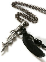 Broken Crow Feather Necklace