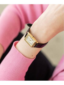 IENA <追加予約>SEIKO*IENA コラボレーションウォッチ1(角型) イエナ ファッショングッズ 腕時計 ブラック【送料無料】