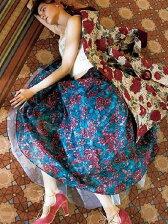 ステンドガラス柄ロングスカート
