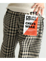 (M)CALIFORNIA CHEF PANTS PATTERN