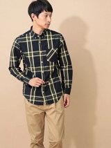 Men's 長袖ビッグチェックBDシャツ