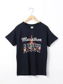 【SALE/50%OFF】coen PARKIES(パーキーズ)TOKYOアスレチックTシャツ コーエン カットソー Tシャツ ネイビー ホワイト