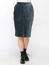 BROWNY STANDARD/(L)カットコールタイトミドルスカート