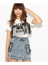 ★ニコラ掲載★チュールキャミ重ね着風Tシャツ