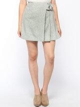 部分プリーツ台形スカート