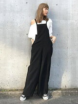 back ribbon overalls