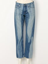 ANNUAL RING LASER BLEACH DENIM PANTS