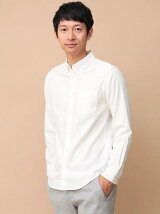 Men's 長袖無地BDシャツ