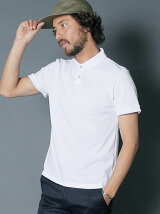 DENIM LIKE TUCK STITCH POLO SHIRTS S/S