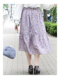 【SALE/63%OFF】dazzlin ドロストコードスカート ダズリン スカート フレアスカート パープル オレンジ ベージュ カーキ