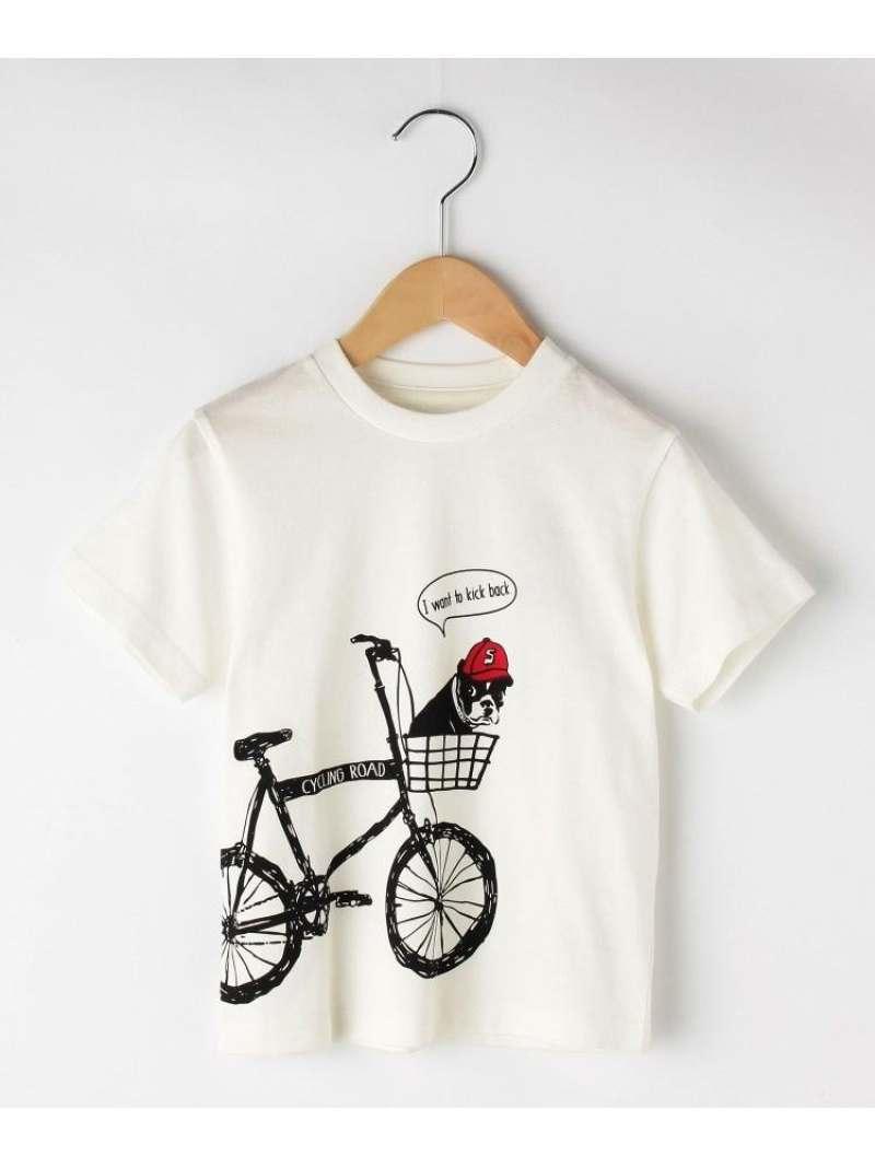 THE SHOP TK(Kids) 【100cm~150cm】自転車DOGTシャツ ザ ショップ ティーケー カットソー