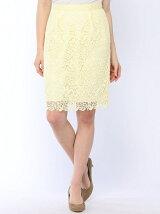 花柄レースタイトスカート