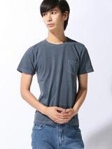 (M)袖TC刺繍ポケットTシャツ