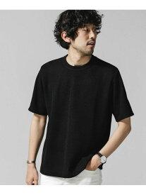 【SALE/40%OFF】nano・universe <WEB限定>JAPAN MADE ドライタッチニットソー ナノユニバース カットソー Tシャツ ブラック グレー ベージュ