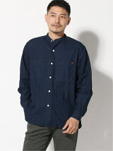(M)UNIVERSAL OVERALL BAND COLLAR SHIRT