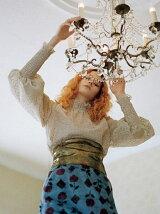 レトロ花柄ミニスカート