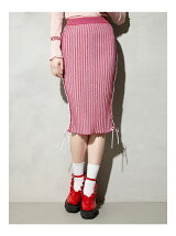 KITTEN GLITTER STRIPE KNIT SKIRT