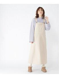 【SALE/50%OFF】studio CLIP CツイルジャンパーSK スタディオクリップ スカート ジャンパースカート ホワイト カーキ ブラウン