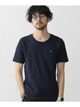 ムラ糸天竺裾パイピングTシャツ