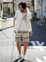 フロントフェザーTシャツ