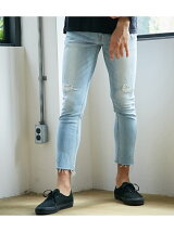 CUT OFF CRUSH DENIM