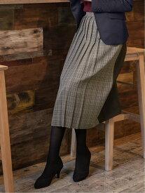 【SALE/37%OFF】m.f.editorial 変形プリーツスカート タカキュー スカート スカートその他 ブラウン グレー【送料無料】