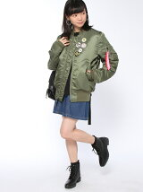 X-girlxBURGER RECORDSxALPHA  JACKET
