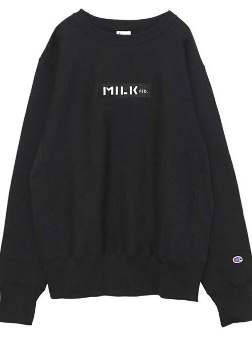 MILKFED. × CHAMPION BAR CREW SWEAT